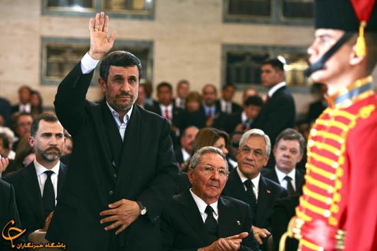 """902910 817 - فیلم و تصاوير خاص حضور """"احمدينژاد"""" در مراسم خاكسپاري چاوز"""