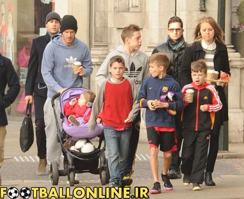 یک روز با خانواده آقای بکهام + عکس