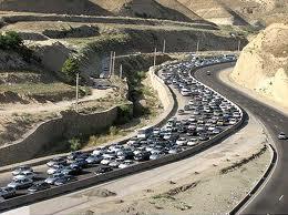 ترافیک نیمه سنگین در آزادراه تهران قم