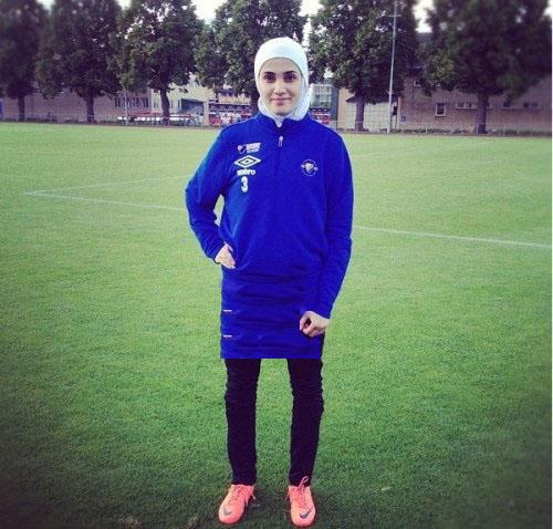 تنها دختر لژیونر در تیم ملی فوتبال ایران/عکس