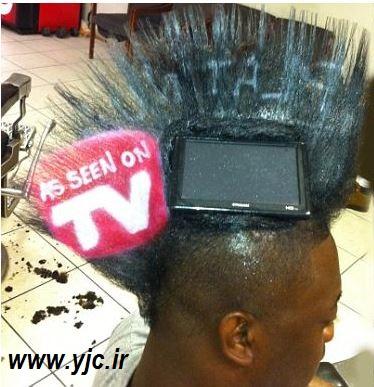978028 329 طراحی تبلیغات روی موی سر/عکس