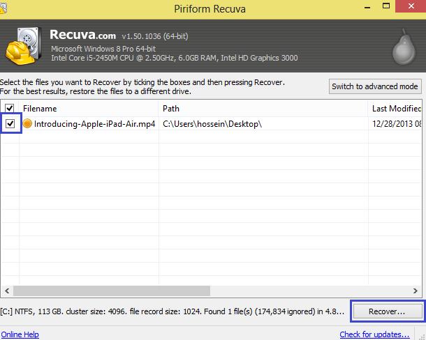 راه حلی آسان در بازیابی فایل های حذف شده + آموزش