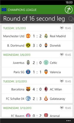 نتایج زنده اروپا