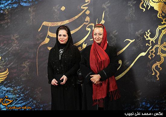 """آزیتا حاجیان"""" و دخترش در اختتامیه سی و دومین جشنواره فیلم فجر + عکس"""