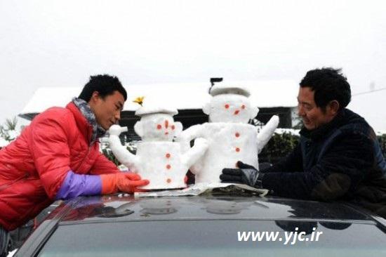 فروش آدم برفی برای تزئین خودرو در چین! +عکس