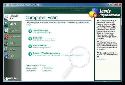 دانلود نرم افزار Loaris Trojan Remover برای از بین بردن اطلاعات مخرب رایانه