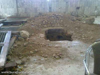 مقبره حجربن عدی بعد از تخریب