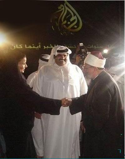 دست دادن مفتی وهابی بازن شوهردار