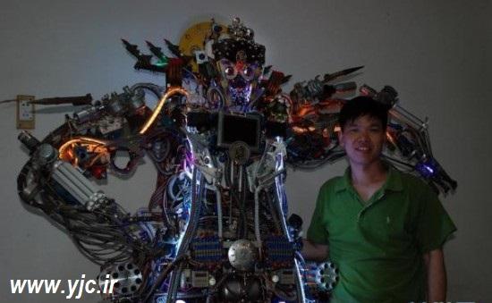 1135727 726 - ساخت ربات با آهن قراضه +عکس