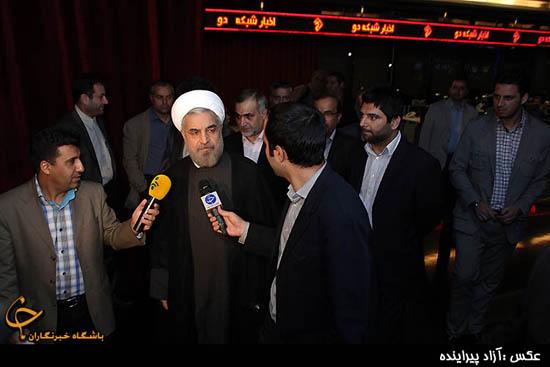 تصاویر حسن روحانی در گفتگوی ویژه خبری