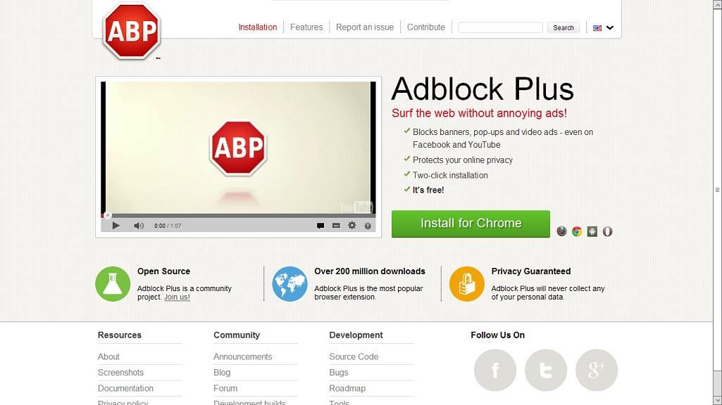 Adblock для браузера 4