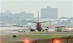 هواپیمای آمریکایی به سبب تهدید بمبگذاری فرود اضطراری کرد