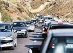 ترافیک نیمه سنگین در جاده های چالوس