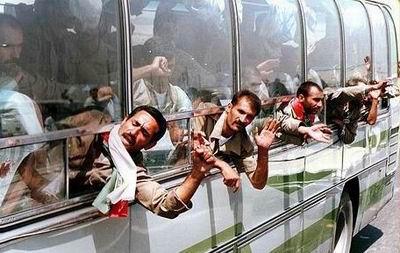 ورود آزادگان به کشور
