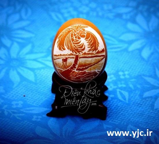 نقاشی های باورنکردنی روی پوست تخم مرغ +تصاویر 1526741_515