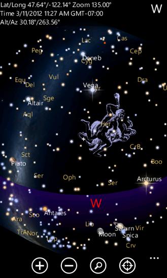 آسمان را به گوشی نشان دهید تا بگوید کدام ستاره بالای سر شماست + دانلود