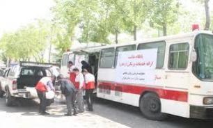 مصدومیت ۳۵ نفر در واژگونی اتوبوس
