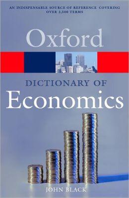 دیکشنری تخصصی آکسفورد برای اقتصاد دانان + دانلود