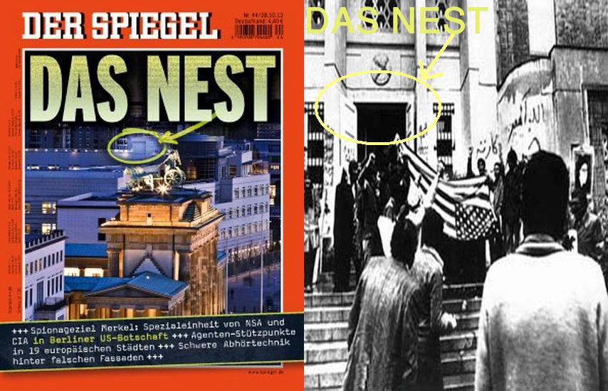 رسوايي لانههاي جاسوسي امريکا از تهران 1979 تا برلين 2013