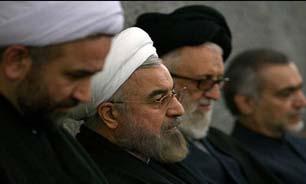 عزاداری دکتر روحانی در کنار سالمندان و معلولین آسایشگاه کهریزک