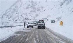 بارش برف در گردنههای شمال و غرب کشور