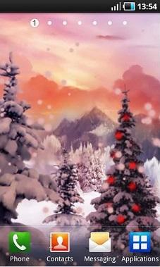 والپیپر متحرک از مناظر جادویی زمستان + دانلود