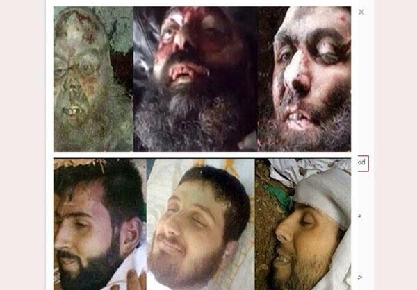 عکس/تفاوت چهره مدافعان و مهاجمان حرم پس از مرگ
