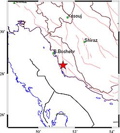 وقوع زمین لرزه در بوشهر+جزئیات