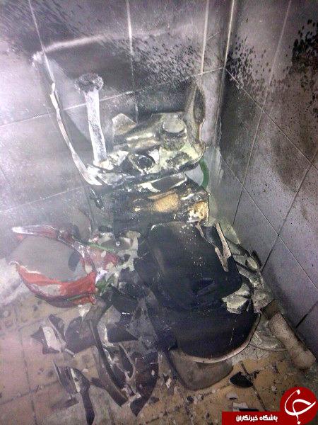 خانمی که به خاطر سوسک، دستشویی را منفجر کرد