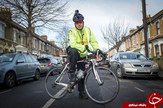 منفورترین دوچرخه سوار دنیا +عکس