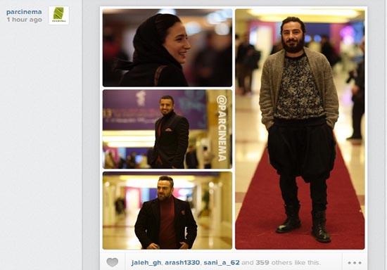 شلوار عجیب آقای بازیگر در جشنواره فجر+عکس