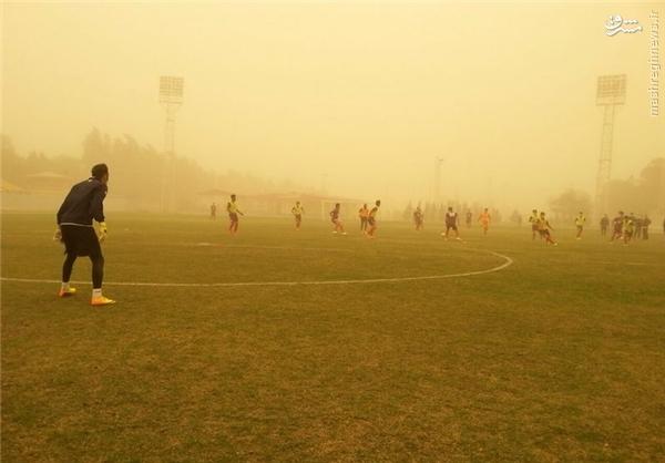 تمرین عجیب تیم لیگ برتری+تصاویر