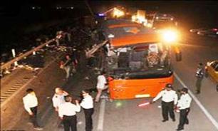 وازگونی اتوبوس حامل زائران کربلا 30 کشته و مصدوم بر جای گذاشت