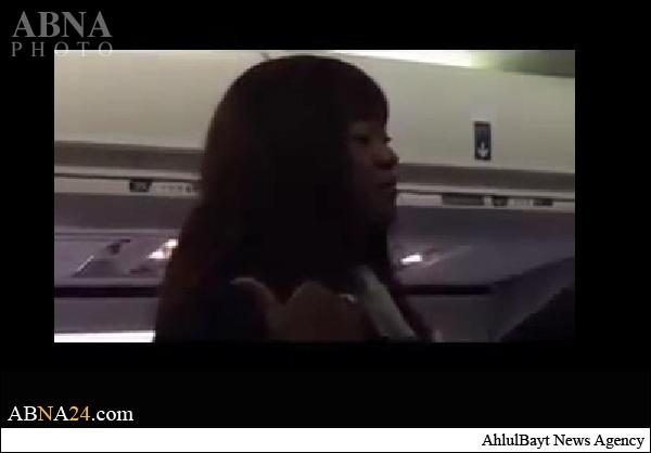 تحقیر یک زن مسلمان در هواپیمای آمریکایی + عکس