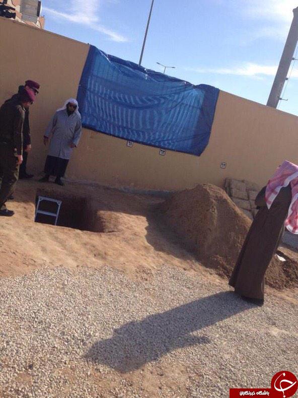 تصویر محل دفن «ملک عبدالله» منتشر شد