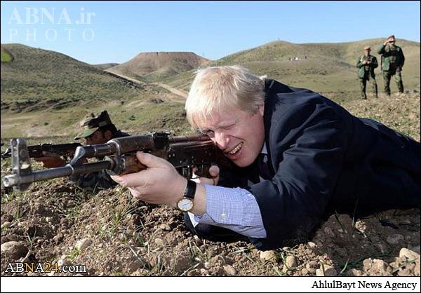 شهردار لندن به جنگ داعش رفت؟ + عکس