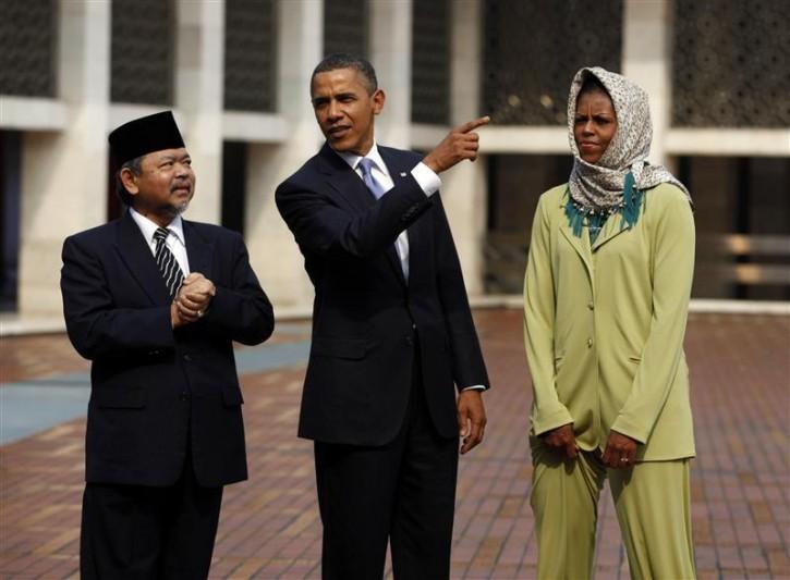 جنجال بر سر همسر اوباما در عربستان سعودی +تصاویر