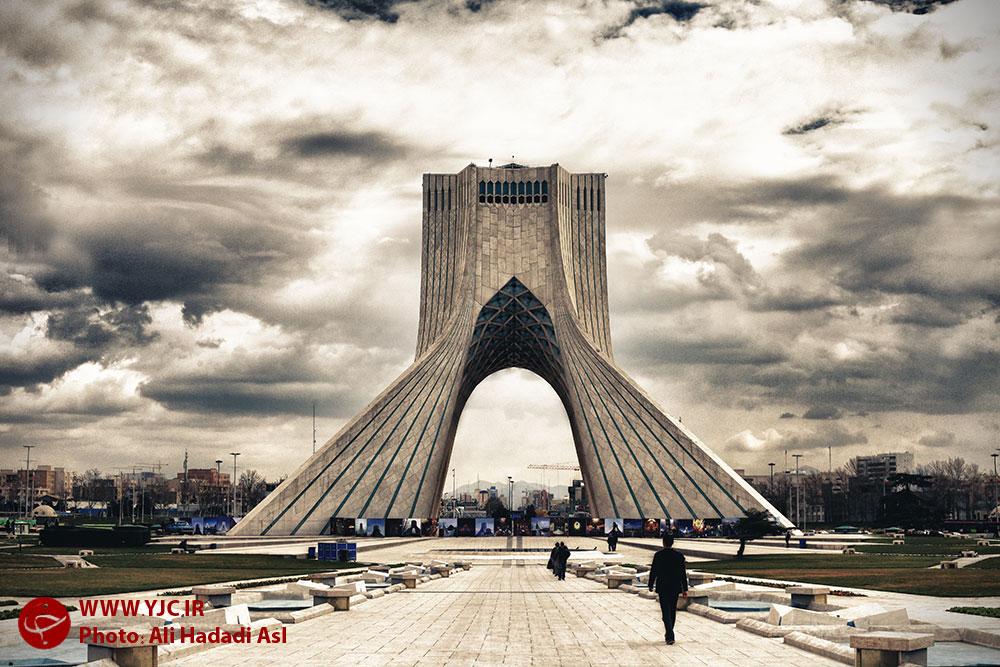 Azadi Tower under construction - IN PHOTOS