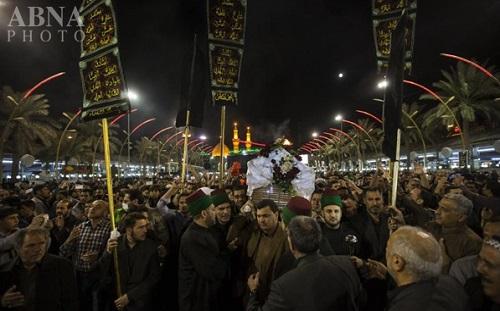 تشییع نمادین حضرت زهرا(س) در کربلا + تصاویر