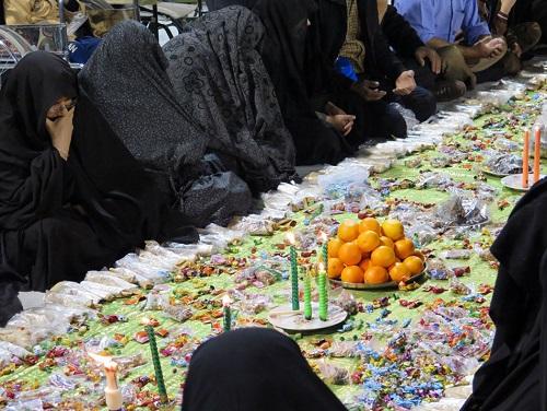 سفره زايران ايراني در بينالحرمين + تصاویر
