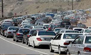 ترافیک در محور رشت – قزوین و آزادراه تهران – قم/ بارش باران در 3 استان کشور