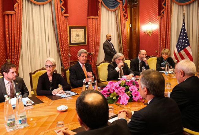 آغاز نشست دو جانبه ایران و آمریکا در لوزان
