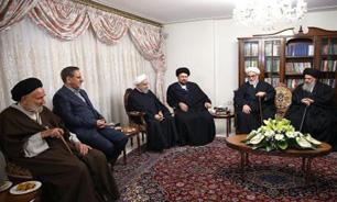 مسئولان و مقامات بلندپایه کشور به روحانی تسلیت گفتند + عکس