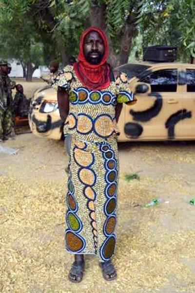 دستگیری عضو بوکوحرام با لباس زنانه + تصاویر