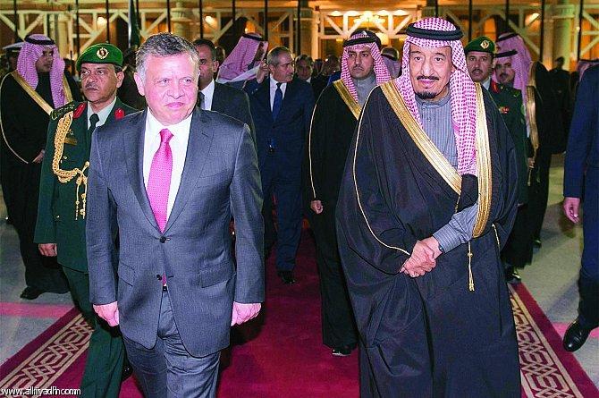 پادشاه اردن وارد عربستان شد+عکس