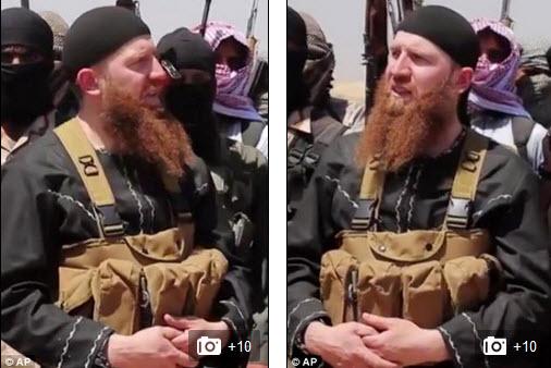 عمر الشیشانی, داعش