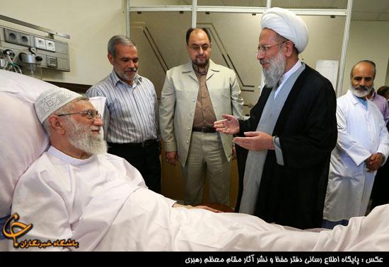 عیادت جمعی از مسئولان و شخصیتهای حوزوی از رهبر معظم انقلاب +تصاویر