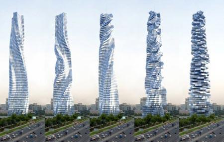 نمای ساختمان مدرن عکس های جالب و زیبا برج دینامیک دبی اخبار ساختمان اخبار جالب