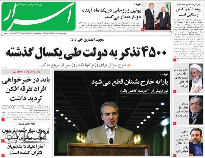 2550442 686 صفحه اول روزنامه های ورزشی، سیاسی و اقتصادی شنبه 8شهریور