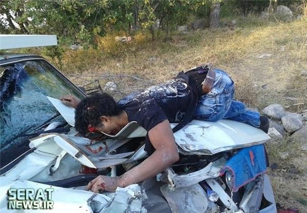 تصادف مرگبار موتور با وانت